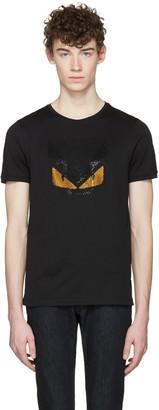 Fendi Black Crystal 'Bag Bug' T-Shirt $550 thestylecure.com