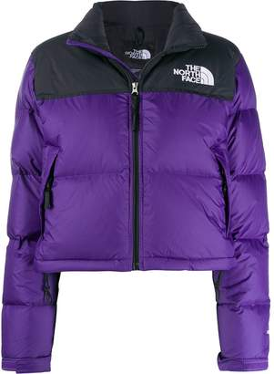 The North Face contrast logo padded jacket