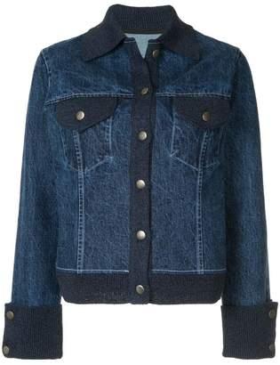 Onefifteen knitted trim denim jacket