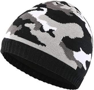 ddc47f5b98c Home Prefer Men s Winter Hat Outdoor Camo Knitted Fleece Lined Beanie Skull  Cap