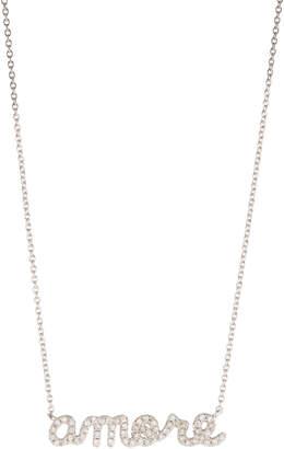 Sydney Evan 14k Micropavé Amore Pendant Necklace