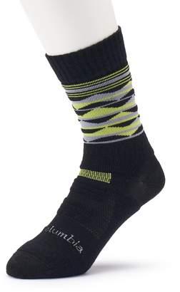 Columbia Men's Merino Wool-Blend Crew Hiking Socks