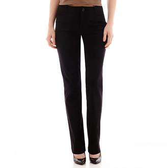 ST. JOHN'S BAY Bi-Stretch Straight Bootcut Pants - Tall Inseam 34