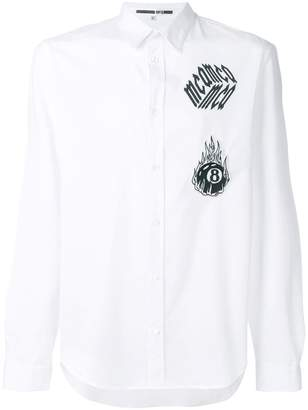 McQ embroidered patch shirt