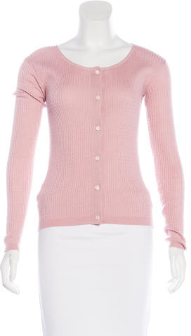 prada Prada Wool Button-Up Cardigan