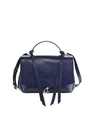 Rebecca Minkoff Stella Distressed Leather Satchel Bag