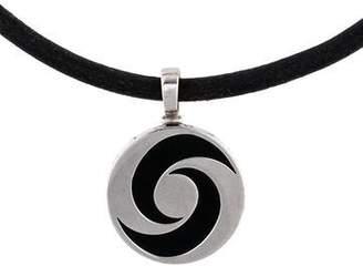 Bvlgari Onyx Optical Illusion Pendant Necklace