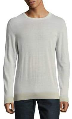 Eleventy Rib-Trimmed Cotton Sweater