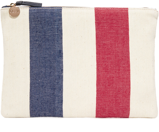 Clare V. Canvas Flat Clutch $165 thestylecure.com