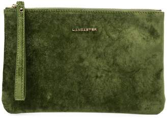 Lancaster velvet clutch bag