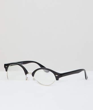 A. J. Morgan Aj Morgan Retro Clear Lens Glasses In Black