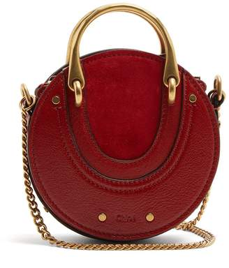 Chloé Pixie mini leather and suede cross-body bag