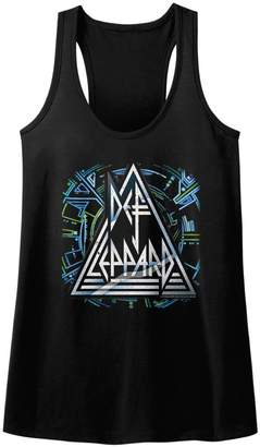 N. American Classics Def Leppard 80s Heavy Metal Band Rock Roll Hysteric Logo Womens Tank Top Tee