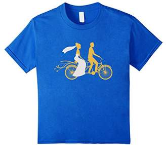 Just Married Couple Gifts Shirt - Tandem Wedding Bicycle