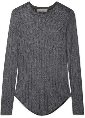 IRO Skogik Metallic Pointelle-knit Top - Gray
