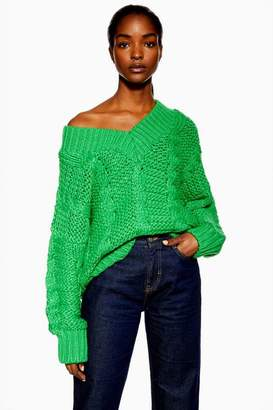Topshop **Heavy Cable Knitted Jumper by Boutique
