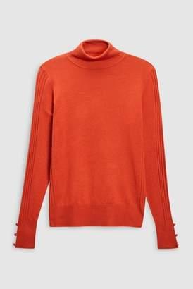 Next Womens Orange Roll Neck Sweater