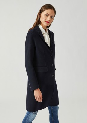 Emporio Armani Single-Breasted Coat In Double Cashmere