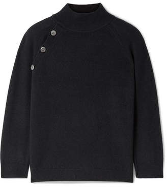 Nili Lotan Cadence Button-embellished Cashmere Turtleneck Sweater - Black