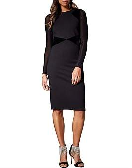 Karen Millen Mesh Sleeve Bodycon Dress