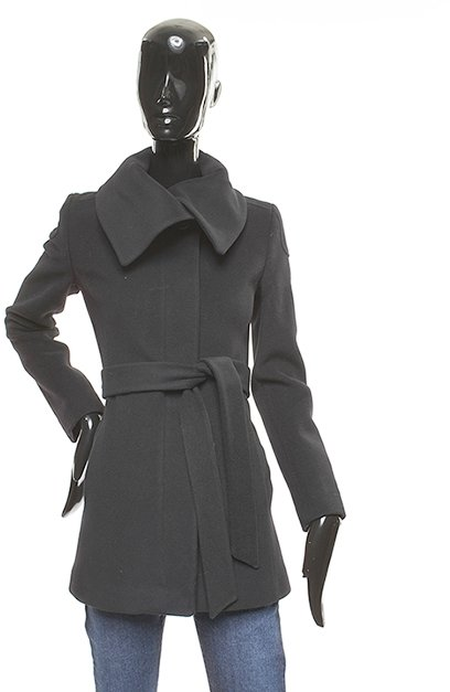 Searle, Envelope collar belted zipper coat
