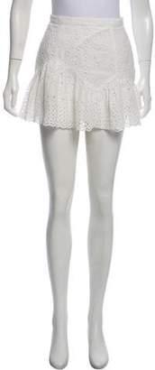 LoveShackFancy Guipure Lace Mini Skirt