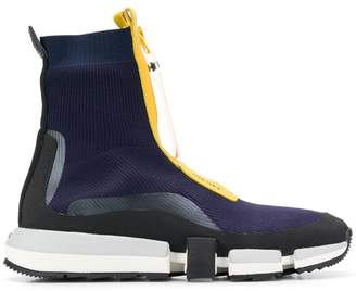 Diesel High top sock sneakers with zip closure