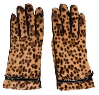 Gucci GG Ponyhair Gloves