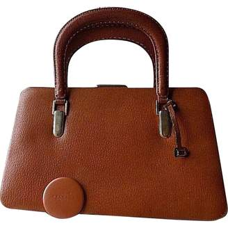 Delvaux Camel Leather Handbags