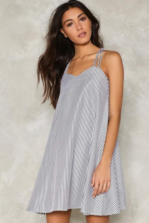 nastygal Strappy Days Striped Dress