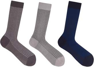 Soxiety Two-Tone Mid Calf Socks Set