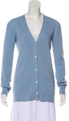 Marc Jacobs Rib Knit Long Sleeve Cardigan