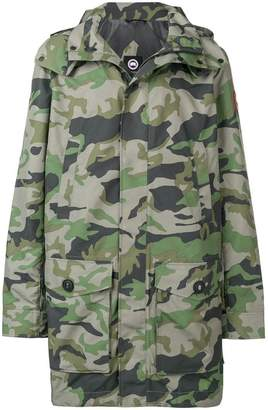 Canada Goose camouflage hooded parka