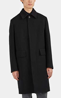 Margaret Howell Men's Virgin Wool Twill Topcoat - Charcoal
