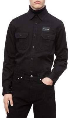 Calvin Klein Jeans Military Long-Sleeve Shirt