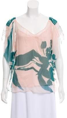 Diane von Furstenberg Ketty Silk Top