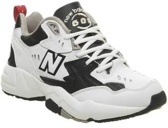 New Balance 608 Trainers White Black