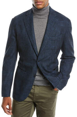 Neiman Marcus Men's Houndstooth 3-Button Sport Jacket