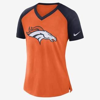 Nike V-Neck (NFL Broncos) Women's Short Sleeve Top