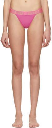 Versace Underwear Pink Medusa Thong