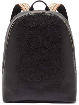 Paul Smith Artist Stripe Grained Leather Backpack - Mens - Black