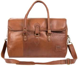 MAHI Leather - Leather Drake Holdall Weekend/Overnight Bag in Vintage Brown