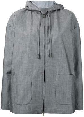 Eleventy patch pockets hooded jacket