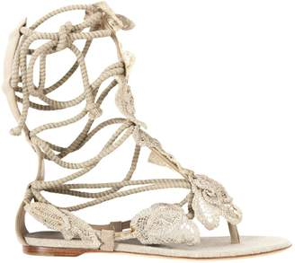 Alberta Ferretti Beige Cloth Sandals