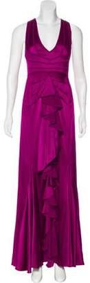 Zac Posen Silk Ruffled Gown w/ Tags