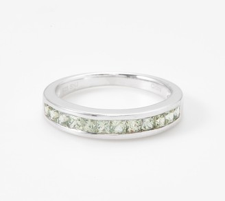Channel Set Sapphire Band Ring, 0.70 cttw, Sterling Silver