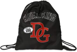 Dolce & Gabbana Print Nylon Drawstring Backpack