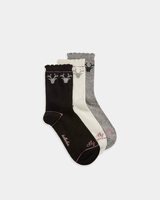 Ted Baker JAMMIKE Reindeer cotton sock gift set