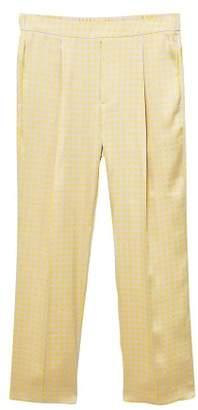 MANGO Pajama style printed trousers