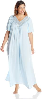 97a31acb358d2 at Amazon Canada · Shadowline Women s Plus-Size Beloved 53 Inch Flutter  Sleeve Long Gown
